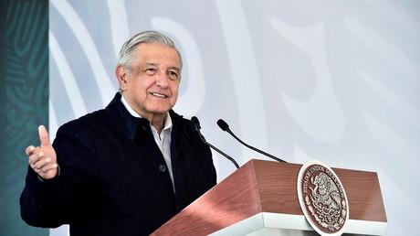 Le président mexicain Andres Manuel Lopez Obrador à San Luis Posoti, Mexique, le 24 janvier 2021. (Illustration)