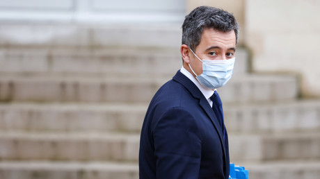Gérald Darmanin au sortir du palais de l'Elysée le 27 janvier 2021 (image d'illustration).