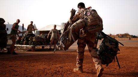 Un soldat français participant à l'opération Barkhane à Gao (Mali), le 1er août 2019.