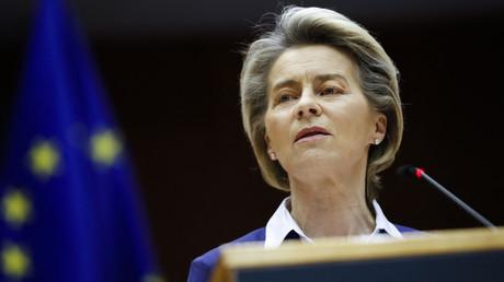 La présidente de la Commission européenne Ursula von der Leyen le 20 janvier 2021, à Bruxelles.