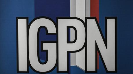 Logo de l'Inspection générale de la police nationale (IGPN) en 2018 à Paris (image d'illustration).