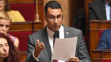 Le député M'jid El Guerrab s'exprime dans l'hémicycle de l'Assemblée nationale, le 3 juillet 2018 (image d'illustration)
