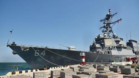 Un navire de guerre américain dans le port d'Odessa, en Ukraine, lors de l'exercice militaire Sea Breeze-2019 (image d'illustration).