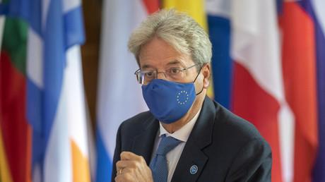 Le commissaire européen à l'économie, Paolo Gentiloni, lors de la réunion informelle des ministres européens de l'Economie et des Affaires financières à Berlin, le 12 septembre 2020 (illustration).