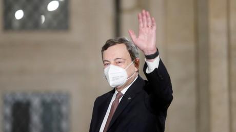 Mario Draghi est le nouvel homme fort de l'Italie (image d'illustration prise à Rome, le 12février 2021).