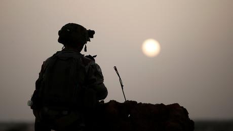 Soldat français au Mali en octobre 2017