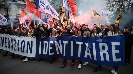 Une manifestation contre l'islamisme organisée par Génération identitaire à Paris le 17 novembre 2019.