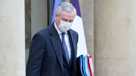 Le ministre de l'Economie Bruno LeMaire à la sortie du Conseil des ministres, le 27janvier 2021 (image d'illustration).