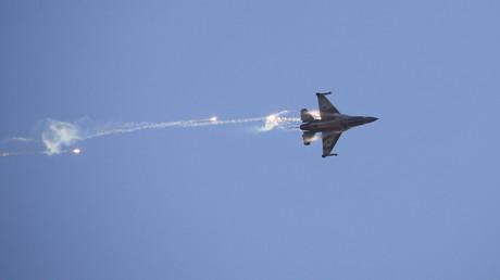 Un F-16 de l'armée israélienne le 31 décembre 2015 en Israël (image d'illustration).