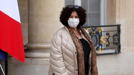 La ministre de l'Enseignement supérieur, de la Recherche et de l'Innovation, Frédérique Vidal, sur le perron de l'Elysée le 20 janvier 2021 (image d'illustration).
