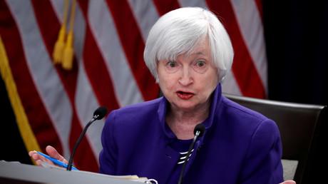 La nouvelle secrétaire au Trésor des Etats-Unis Janet Yellen, photographiée lors d'une conférence de presse à Washington en 2017 (illustration).