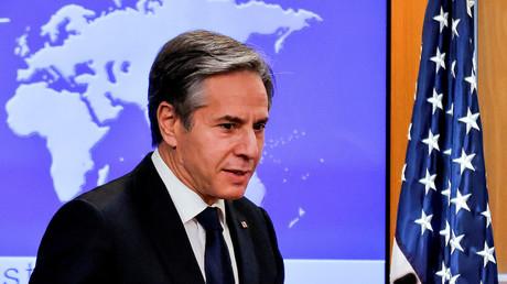 Le secrétaire d'État américain Antony Blinken entame son premier point de presse au département d'Etat, à Washington, États-Unis, le 27 janvier 2021. (image d'illustration)