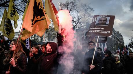 Manifestation de Génération identitaire du 17 novembre 2019.
