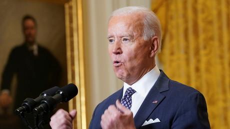 Le président américain Joe Biden participe à la Conférence de Munich sur la sécurité depuis la Maison Blanche à Washington, le 19 février 2021.