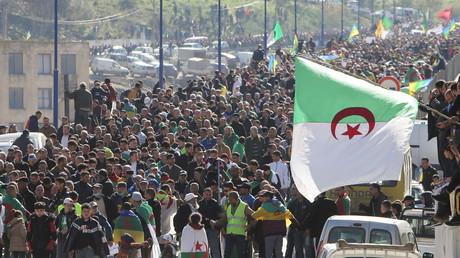 Manifestations pour le deuxième anniversaire du Hirak à Kherrata, Algérie, le 16 février 2021.