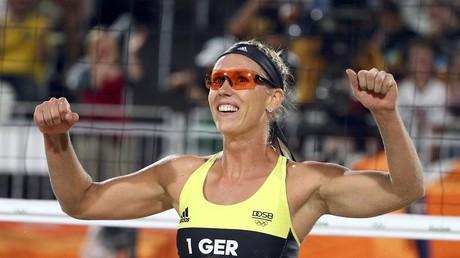 Karla Borger aux Jeux olympiques de Rio, au Brésil, le 9 août 2016 (photo d'illustration).