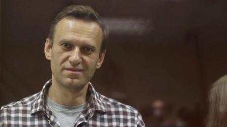 Alexeï Navalny durant une audition devant la justice à Moscou (Russie), le 20 février 2021 (image d'illustration).