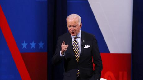 Le président des Etats-Unis Joe Biden lors d'un émission de la chaîne CNN à Milwaukee (Wisconsin), le 16 février 2021 (illustration).