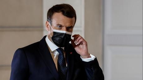 Emmanuel Macron, le 25 février à l'issue d'un sommet européen virtuel (image d'illustration).