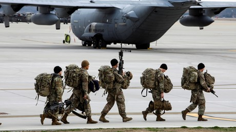 Des soldats américains avant un excercice militaire international, à Fort Bragg, Caroline du Nord, Etats-Unis, 23 janvier 2020 (image d'illustration).