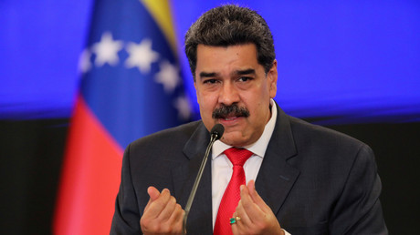 Le président Nicolas Maduro s'exprime durant une conférence qui a lieu à Caracas, le 8 décembre 2020 (image d'illustration).