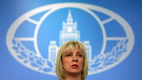 La porte-parole du ministère russe des Affaires étrangères, Maria Zakharova, s'adresse aux médias à Moscou le 29 mars 2018 (image d'illustration).