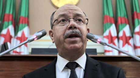 Le ministre algérien de la Justice, Belkacem Zeghmati,  à Alger le 25 novembre 2020 (image d'illustration).