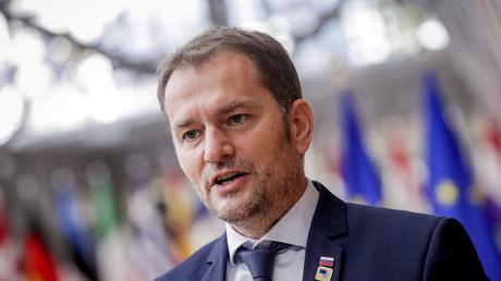 Le Premier ministre slovaque Igor Matovic lors d'un sommet de l'UE à Bruxelles, le 15octobre 2020 (image d'illustration).