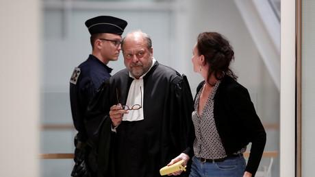 Le ministre de la Justice (à l'époque avocat), Eric Dupont-Moretti, le 13 mai 2019 à la cour d'appel de Paris le 13 mai 2019.