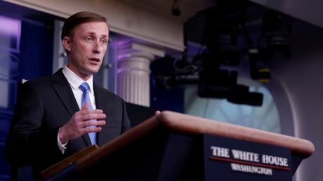 Le conseiller de Joe Biden à la sécurité nationale Jake Sullivan lors d'une conférence de presse à la Maison Blanche à Washington, le 4 février 2021.