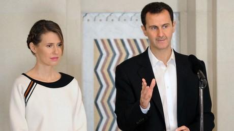Le couple présidentiel syrien en 2016 (image d'illustration).