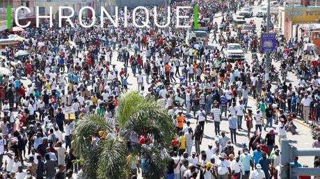 Manifestation contre le président Jovenel Moise (illustration).