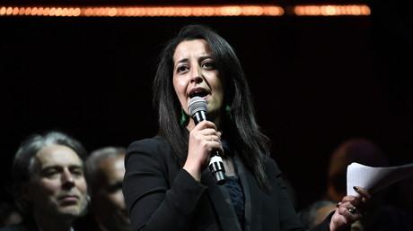 L'eurodéputée Karima Delli à un meeting d'EELV à Paris le 21 mai 2019 (photo d'illustration).