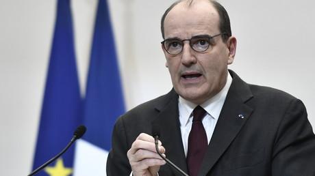 Le Premier ministre français Jean Castex s'exprime lors d'une conférence de presse sur la stratégie actuelle du gouvernement pour la pandémie de coronavirus à Paris,  le 25 février 2021 (image d'illustration).