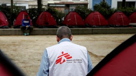 Un membre de Médecins sans frontières à paris, le 30 juin 2020 (photo d'illustration).