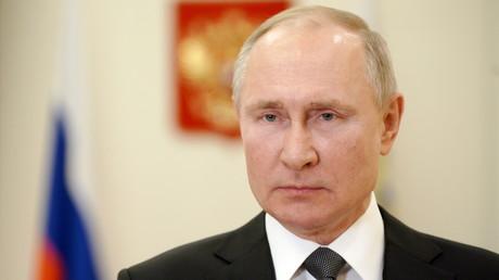 Vladimir Poutine à Novo-Ogariovo, près de Moscou, le 27 février 2021 (image d'illustration).