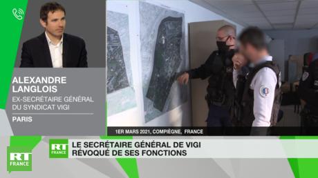 Alexandre Langlois sur le plateau de RT France