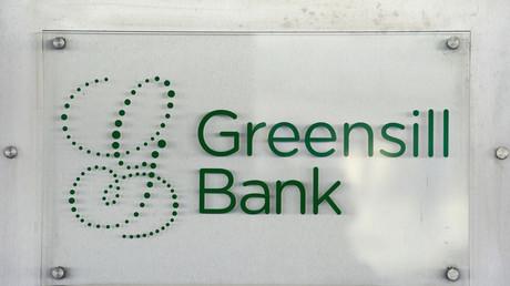 Le logo de Greensill Bank dans le centre-ville de Brême (Allemagne), le 3juillet 2019 (image d'illustration).
