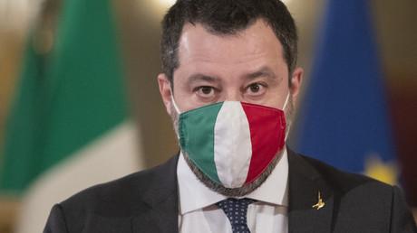 Matteo Salvini s'adresse aux médias au palais présidentiel du Quirinal à Rome, le 29janvier 2021 (image d'illustration).