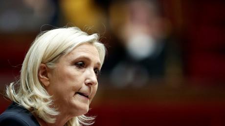 La députée Marine Le Pen à l'Assemblée nationale le 7 octobre 2019 (image d'illustration).