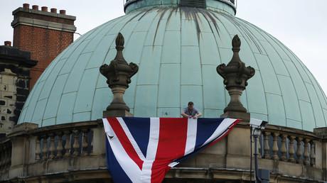 Le drapeau du Royaume-Uni sur un bâtiment de Leeds, le 28septembre 2016 (image d'illustration).