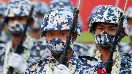Des militaires birmans participent au défilé du 27 mars 2021, à Naypyidaw (image d'illustration).