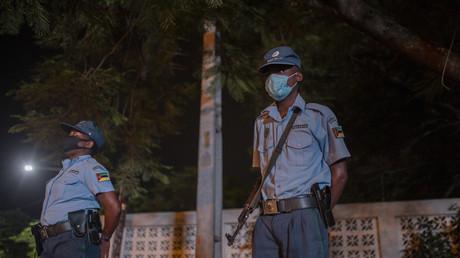 Policiers mozambicains, le 21février 2021 (image d'illustration).