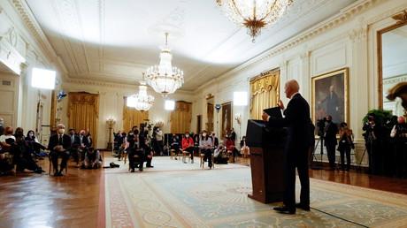 Joe Biden en conférence de presse le 25 mars.