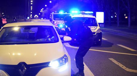 Les policiers sur le terrain à Blois (Loir-et-Cher) après des violences urbaines, le 17 mars (image d'illustration).