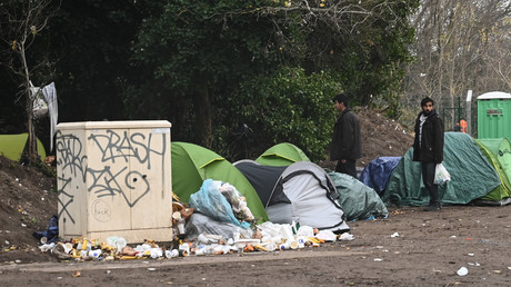 Le camp de migrants de Calais, le 26 novembre 2019 (image d'illustration).