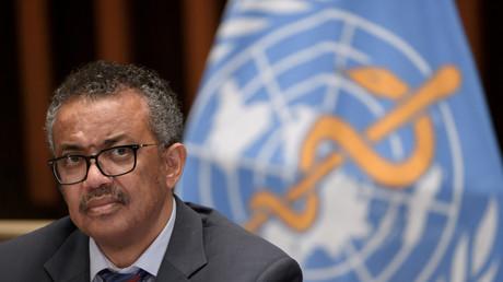 Le directeur général de l'Organisation mondiale de la santé (OMS), Tedros Adhanom Ghebreyesus lors d'une conférence de presse à Genève, le 3 juillet 2020 (image d'illustration).