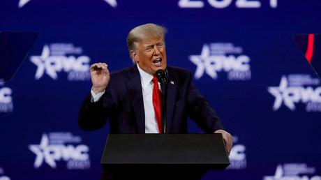 L'ancien président des Etats-Unis, Donald Trump, lors d'une conférence du Parti républicain à Orlando en Floride le 28 février 2021 (image d'illustration).