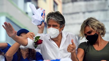 Le candidat à la présidentielle équatorienne Guillermo Lasso, à Guayaquil, Équateur, le 4 février 2021.