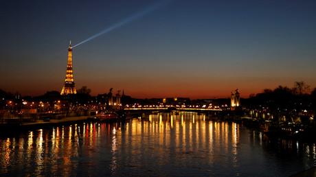 Une vue de Paris après le couvre-feu, le 20 mars 2021 (image d'illustration)